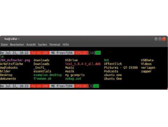 Mehr als Geschmackssache: Ein funktionaler Prompt liefert automatisch Informationen, für die Sie sonst externe Systemwerkzeuge starten müssten.