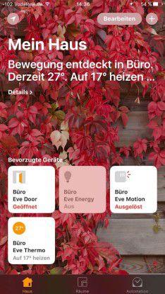 Mit der Apple-Home-App auf iPhones und iPads steuern Sie zentral mehrere Smarthome-Systeme.