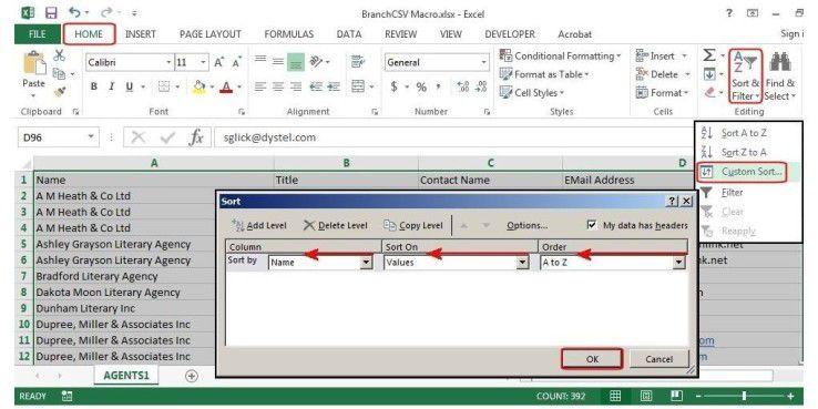 Markieren Sie alle Daten in Ihrem Tabellenblatt