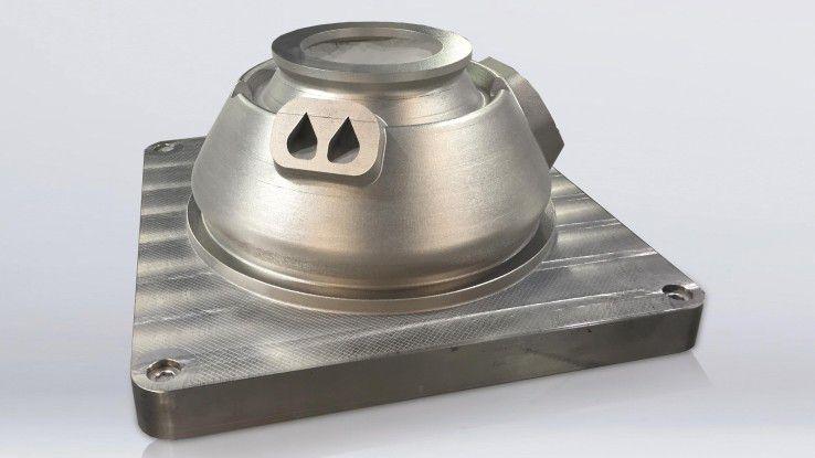 All-in-One-Design des gedruckten Einspritzkopfs des Raketenantriebs.