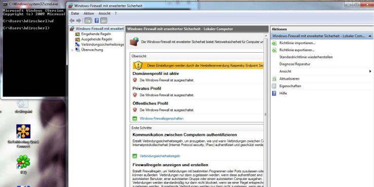 Regeln für Windows-Firewall schnell aufrufen