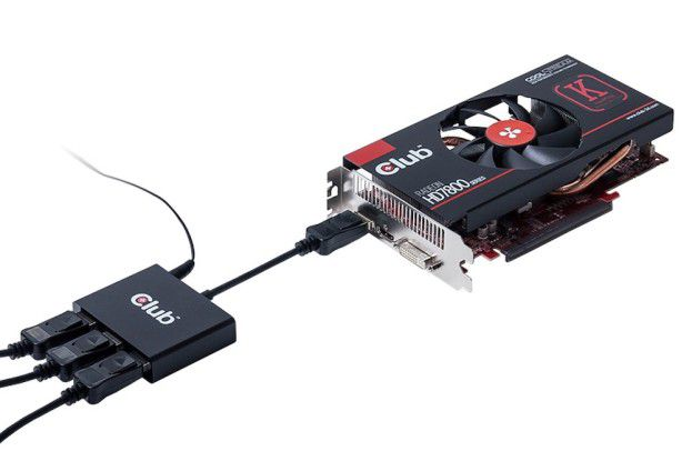 Mit einem MST-Hub lassen sich über einen einzelnen Displayport mehrere Monitore ansteuern - und zwar so, als wären sie direkt am System angeschlossen.