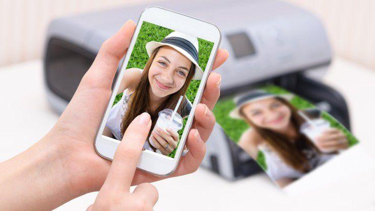 Smartphone.Selfies ausdrucken? Diese Geräte helfen dabei.