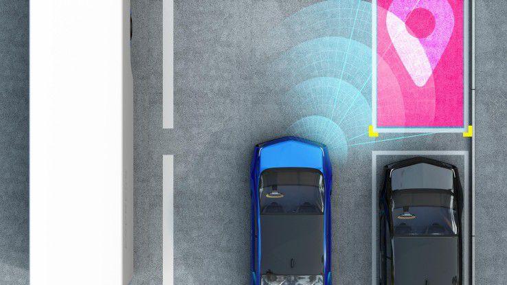 Dank vernetzter Parkplätze finden Hamburger Autofahrer künftig schnell einen freien Stellplatz.