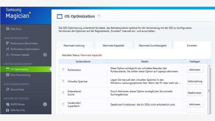 Alle Funktionen der aktuellen Version im Überblick: SSD-Tools