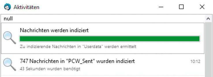 """Wird die Datei """"global-messages- db.sqlite"""" im Profilordner gelöscht, so erstellt Thunderbird diesen Index beim nächsten Start von Grund auf neu."""