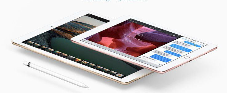 Gruppenfoto: Das neue iPad Pro 9,7 und das iPad Pro 12,9