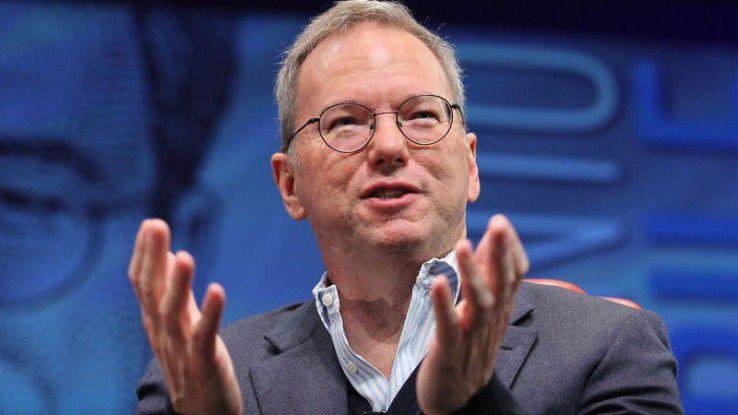Eric Schmidt, Executive Chairman bei Google, glaubt an Künstliche Intelligenz - weniger an die Politiker.