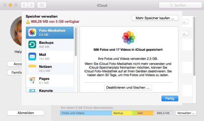 In OS X sehen (und auf Wunsch: löschen) wir alle in iCloud gespeicherten Dokumente.