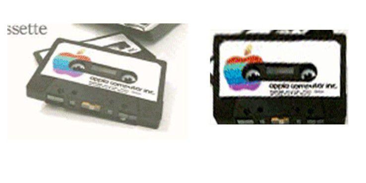"""Auf den Booting-Kassetten des Apple II war das Logo erstmals """"angebissen""""."""