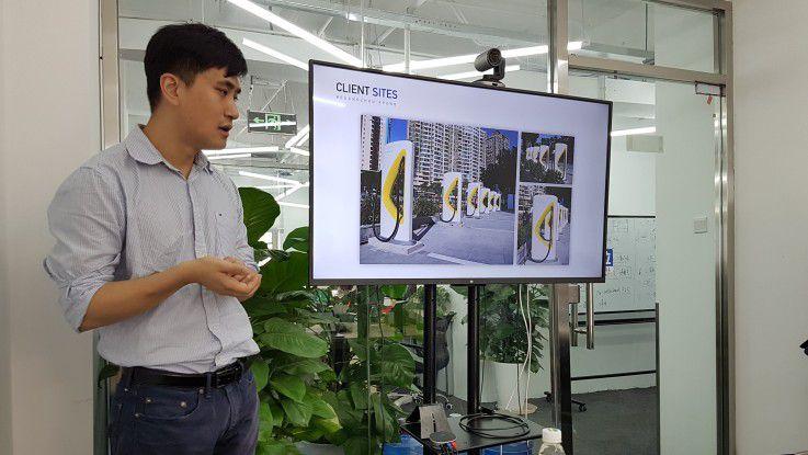 XCharge-Gründer Simon Hou präsentierte die Zukunft der Elektromobilität und wie sich Schnellladesäulen für E-Autos derzeit in China flächendeckend durchsetzen.