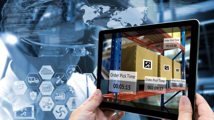 Menschen statt Roboter: Mit Augmented Reality können Unternehmen die Produktivität ihrer Lagerlogistik steigern.
