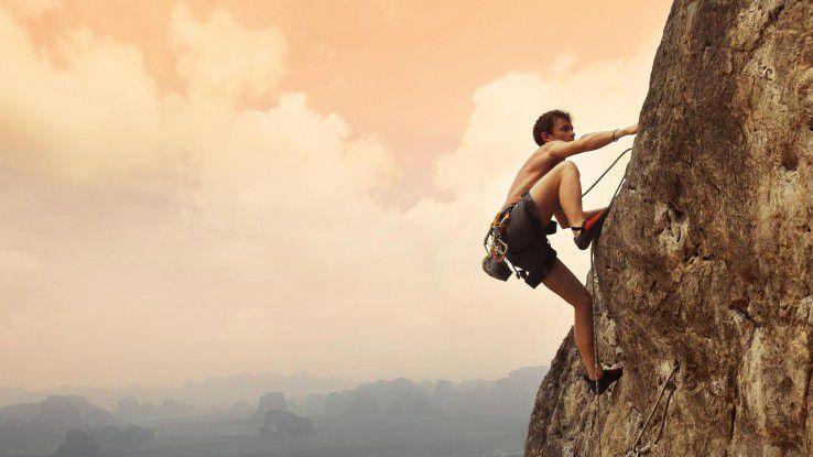 Beim Klettern gibt es zwei Sicherungen - das reicht.