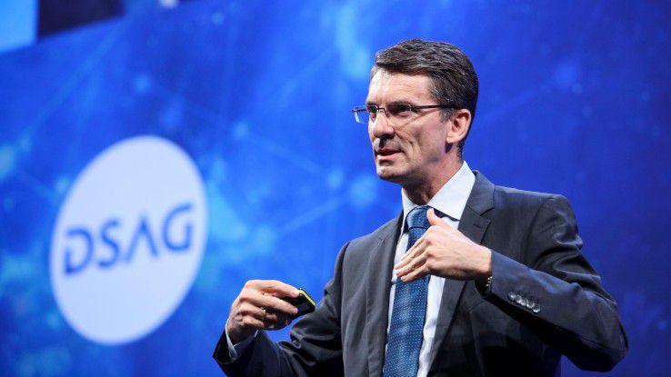SAPs Technikvorstand Bernd Leukert pochte noch im Frühjahr 2017 darauf, Cloud-Kooperationen nur nach SAP-Regeln eingehen zu wollen.