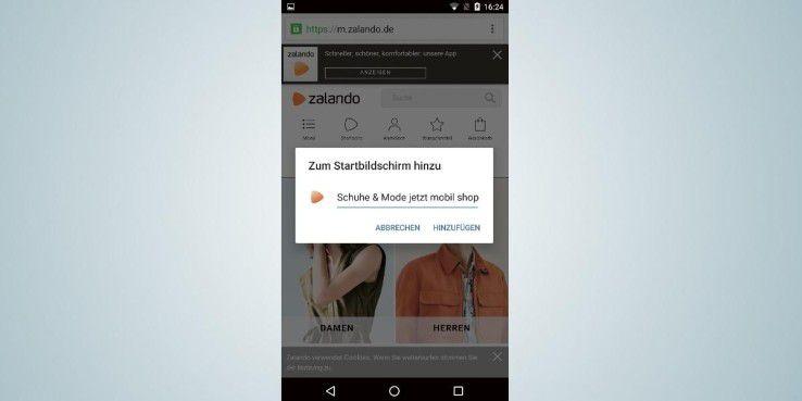Für einen schnellen Zugriff auf Ihre Lieblings-Internetseite sollten Sie eine Homescreen-Verknüpfung erstellen.