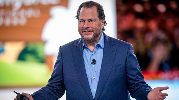 Salesforce-Chef Marc Benioff sprach im Zusammenhang mit der Google-Kooperation von einem großen Gewinn für die Kunden.