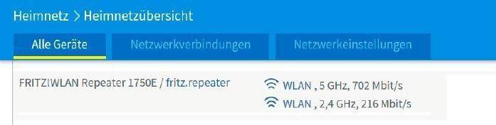 Alle verbundenen Netzwerkgeräte einsehen.
