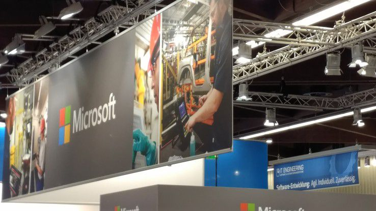 Bei Microsoft stand das Thema Azure IoT im Vordergrund.