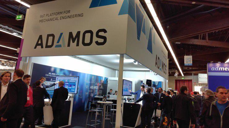 Adamos nutzt die Gelegenheit, um sich und die eigene IoT-Plattform auf der SPS der Öffentlichkeit zu präsentieren.