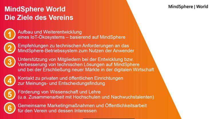 Die Ziele der Anwendervereinigung MindSphere World.