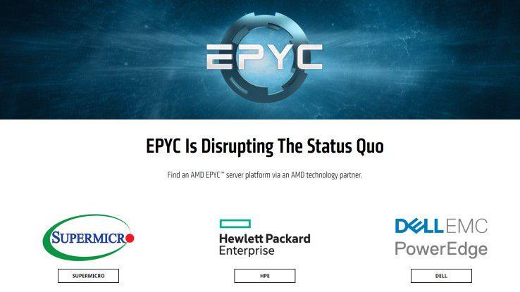 Die AMD-Epyc-Serverplattform ist auch für andere Serverhersteller attraktiv.