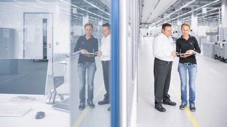 Neue Wege geht man in der Technologiefabrik Scharnhausen auch bei der Verknüpfung von Office und Shopfloor.