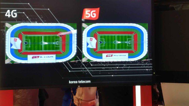 Technologievergleich zwischen 4G- und 5G-Mobilfunktechnik.