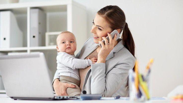 Nur ein Fünftel der Frauen in Deutschland glaubt, auch mit Kindern Karriere machen zu können.