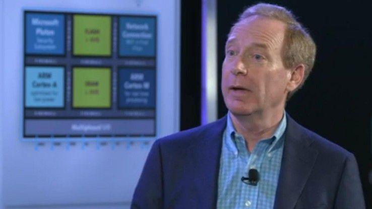Microsofts Chefjustiziar Brad Smith stellte die neue IoT-Security-Lösung vor.