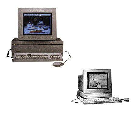 Mac LC (Low Cost) unten rechts.