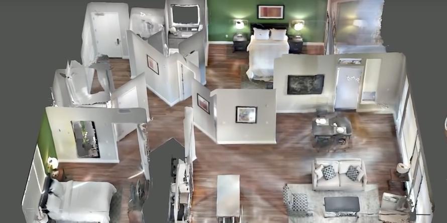 Bild: Der 3D-Scan einer Wohnung mit Googles Tango