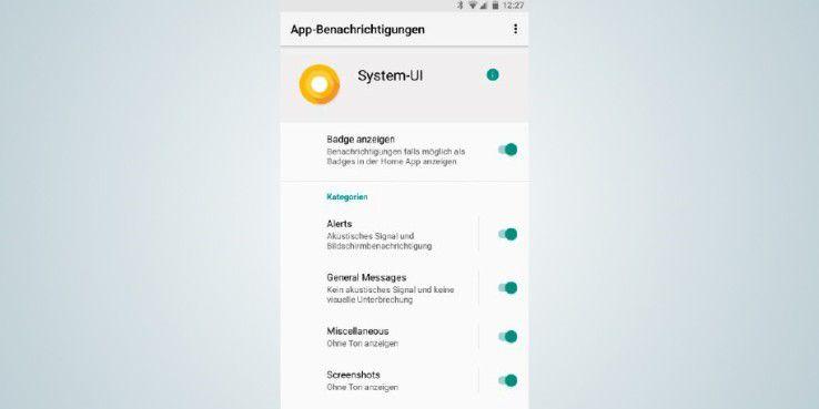 Kategorien erlauben es Ihnen unter Android 8, die Benachrichtigungen von Apps besser zu steuern.