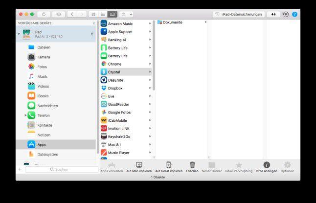 Tools wie iMazing können Apps auf den den Desktop-Rechner kopieren.