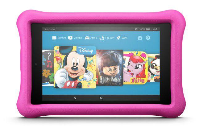 Die Fire HD Kids Edition gibt es in acht und sieben Zoll; pink und blau.