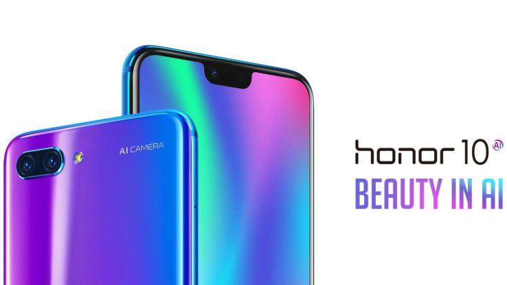 Die Huawei-Tochter bewirbt beim Honor 10 insbesondere die Dualkamera mit KI-Unterstützung