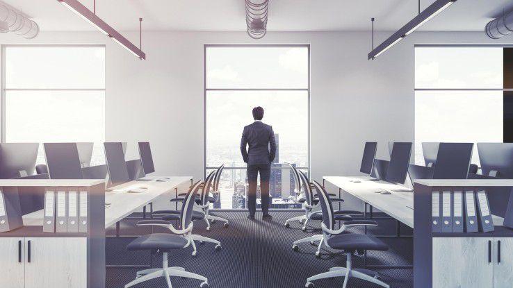 Arbeitsplatz der Zukunft: Viele Entscheider fühlen sich von den neuen Themen überfordert.
