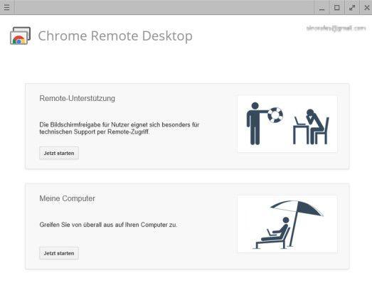 Mit Chrome Remote Desktop lassen sich einfach und problemlos Fernwartungsaufgaben lösen.