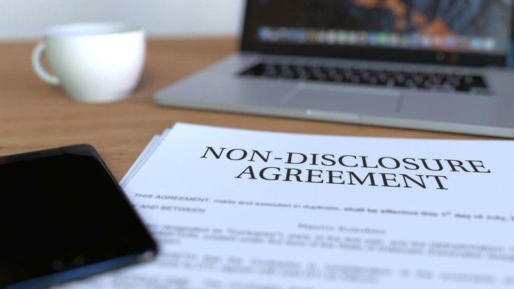 Durch ein Non Disclosure Agreement (NDA) werden vertrauliche Informationen und Geschäftsgeheimnisse geschützt.