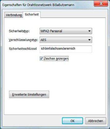 Unter Windows 7 lässt sich eine gespeicherte WLAN-Verbindung bequem in zwei Schritten korrigieren.
