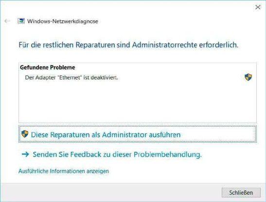 Hardwareseitige Verbindungsprobleme kann Windows inzwischen relativ sicher diagnostizieren.