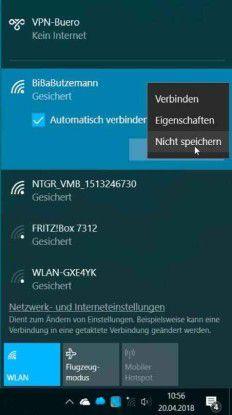 Eine gespeicherte WLAN-Verbindung in Windows 10 zu ändern, ist umständlich.