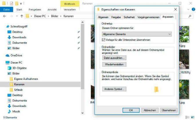 Windows versucht automatisch, den Ordnerinhalt zu erkennen und passende Ansichten einzustellen.