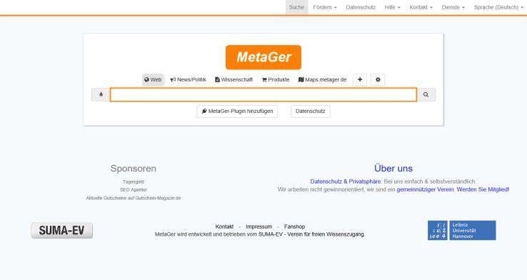 MetaGer gehört zu den beliebtesten deutschen Metasuchmaschinen.