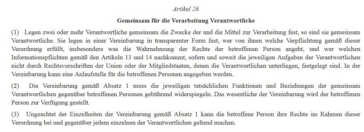 Joint Controllership Agreement So Sieht