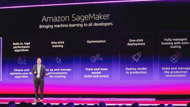 AWS-Chef Andy Jassy warb auf der Entwicklerkonferenz re:Invent in Las Vegas auch für neue Machine-Learning-Services.