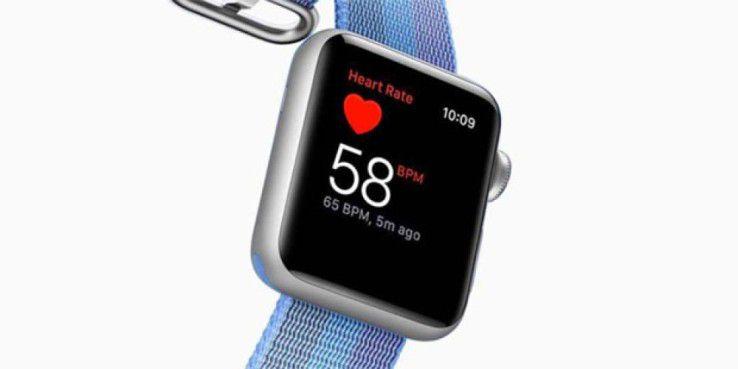 Die Apple Watch zeigt auch die Herzfrequenz an.