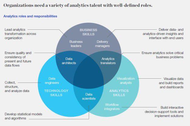 Unternehmen müssen definieren, welche Rollen sie rund um Data Analytics brauchen.