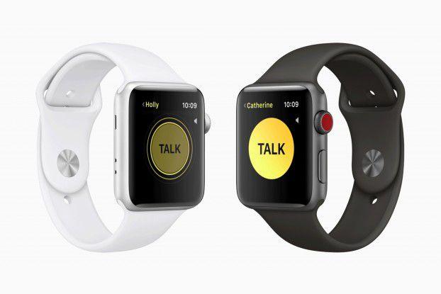 Walkie Talkie auf der Apple Watch