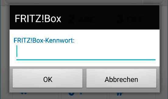 Fritzbox-Kennwort eingeben