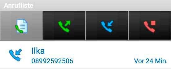 Anrufliste überprüfen